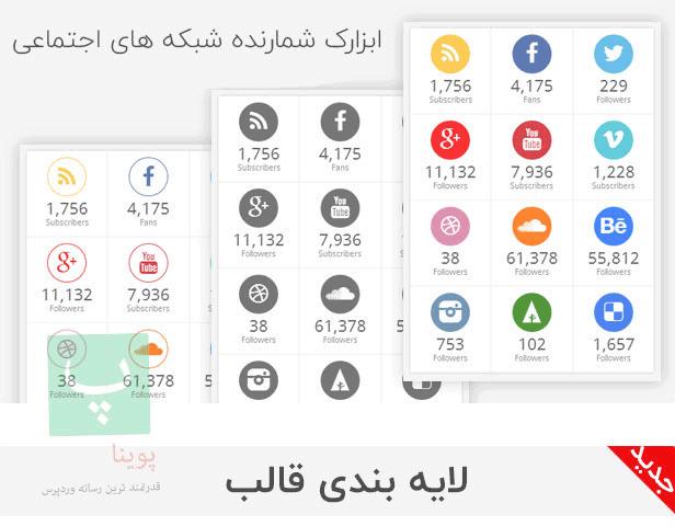 ابزارک شبکه های اجتماعی قالب صحیفه
