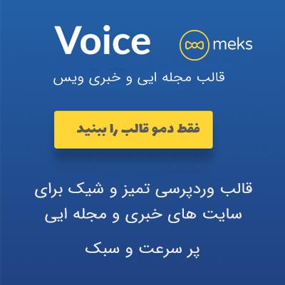 قالب ویس | قالب voice